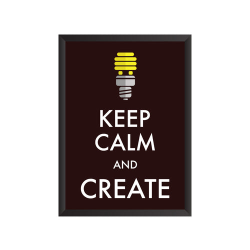 Keep Calm and Create Wall Frame | PF030
