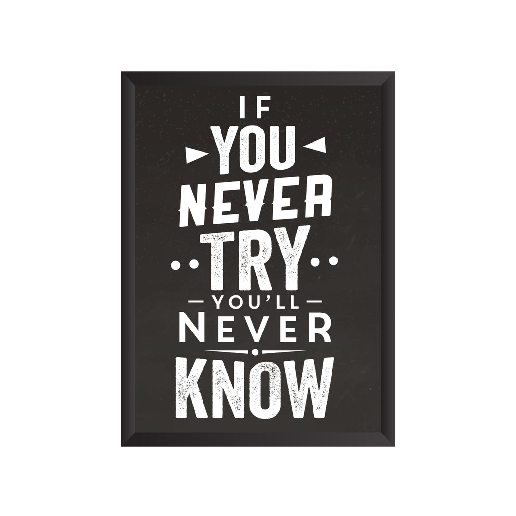 If you never Try you'll never Know Wall Frame | PF031