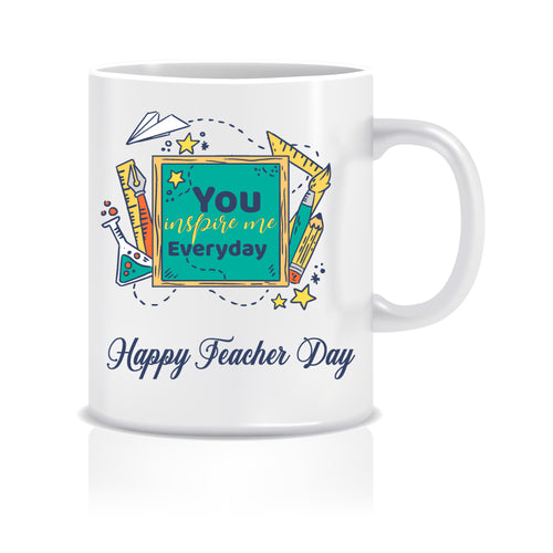 You Inspire Everyday Happy Teacher Day Ceramic Coffee Mug | ED1503