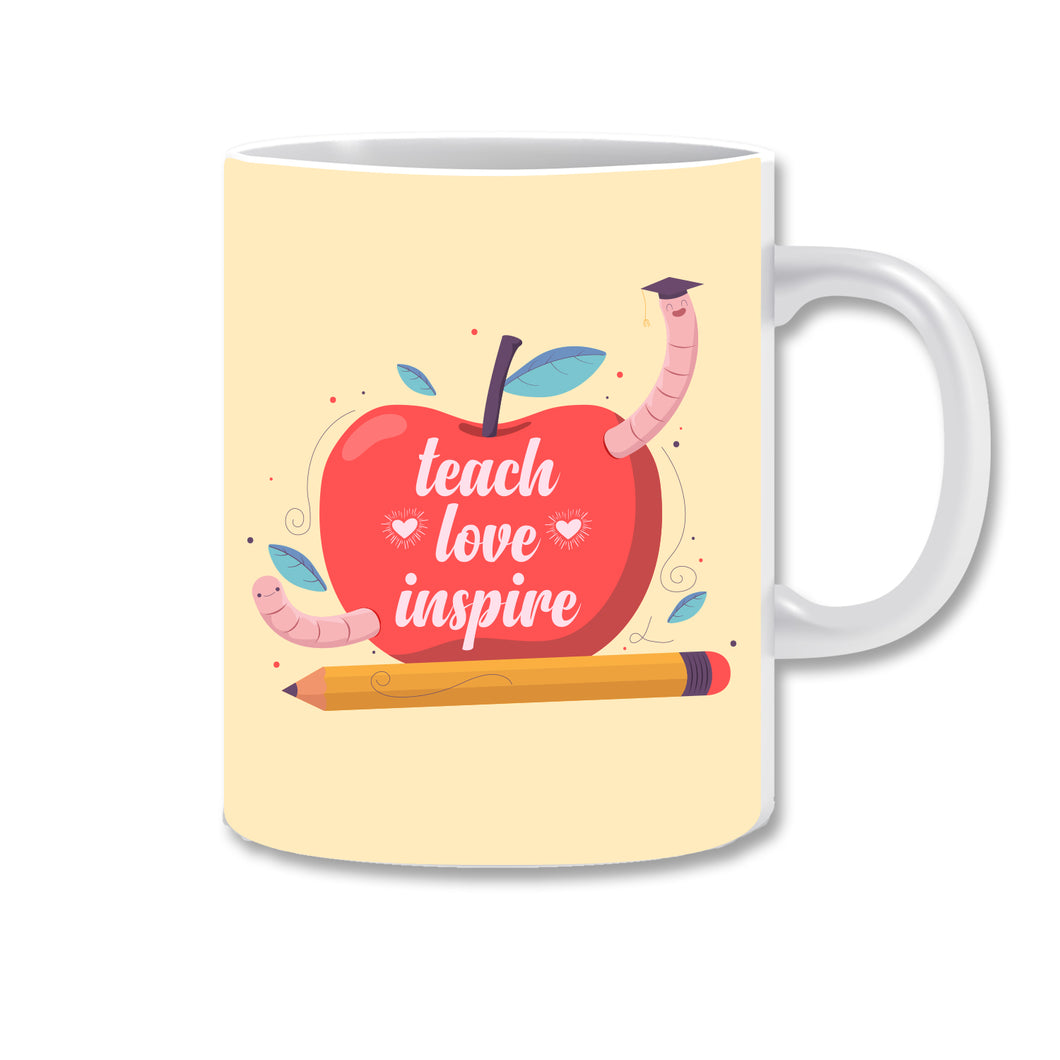 Teach Love Inspire Ceramic Coffee Mug | ED1506