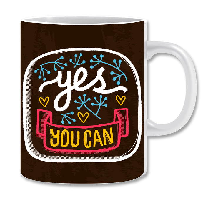 Yes You Can Ceramic Coffee Mug | ED1497