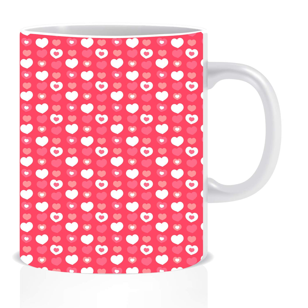 Heart Pattern Coffee Mug | ED1417