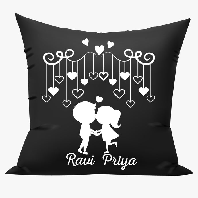 black personalized cushions online