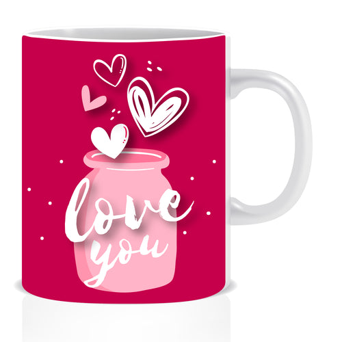 Love You Ceramic Coffee Mug -ED1413