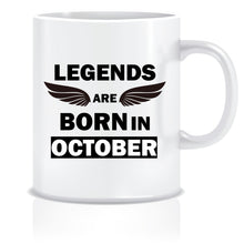 Legends Born In October Coffee Mug