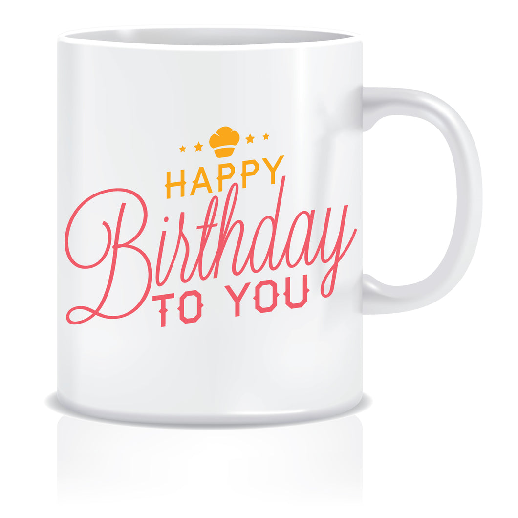 Happy Birthday Printed Coffee Mug  ED645