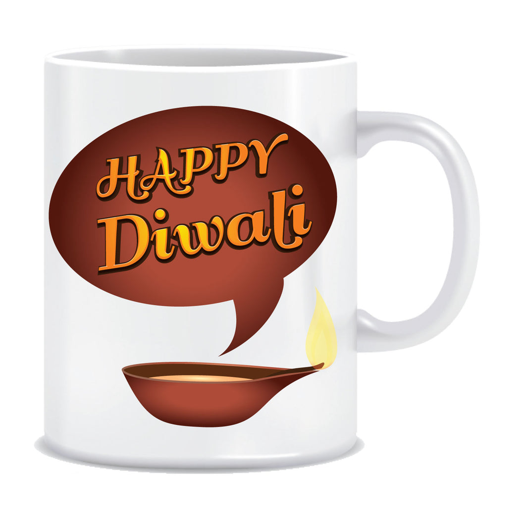 Happy Diwali Printed Ceramic Coffee Mug ED118