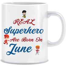 Superheroes are Born In June Coffee Mug