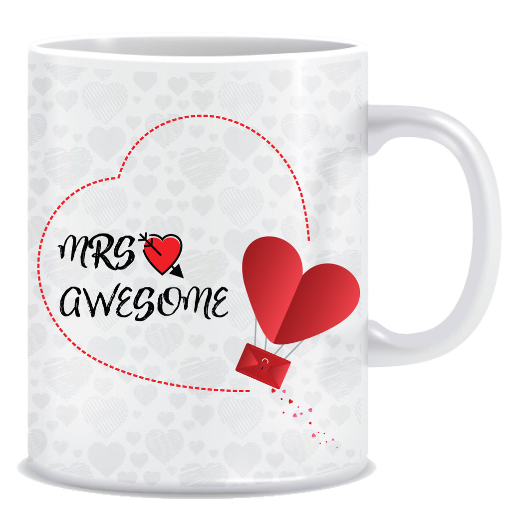 Mrs Awesome Ceramic Coffee Mug -ED1107