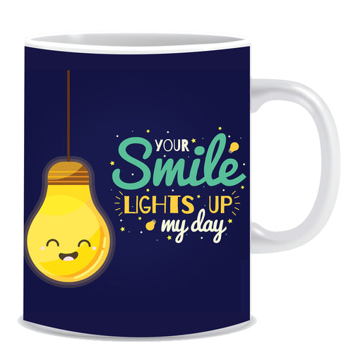 Your Smile Lights up My Day Ceramic Coffee Mug -ED1332