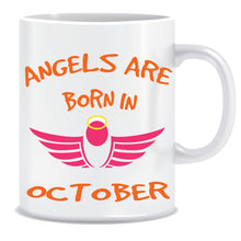 Angels are Born In October Coffee Mug