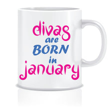 Divas are Born In January Coffee Mug