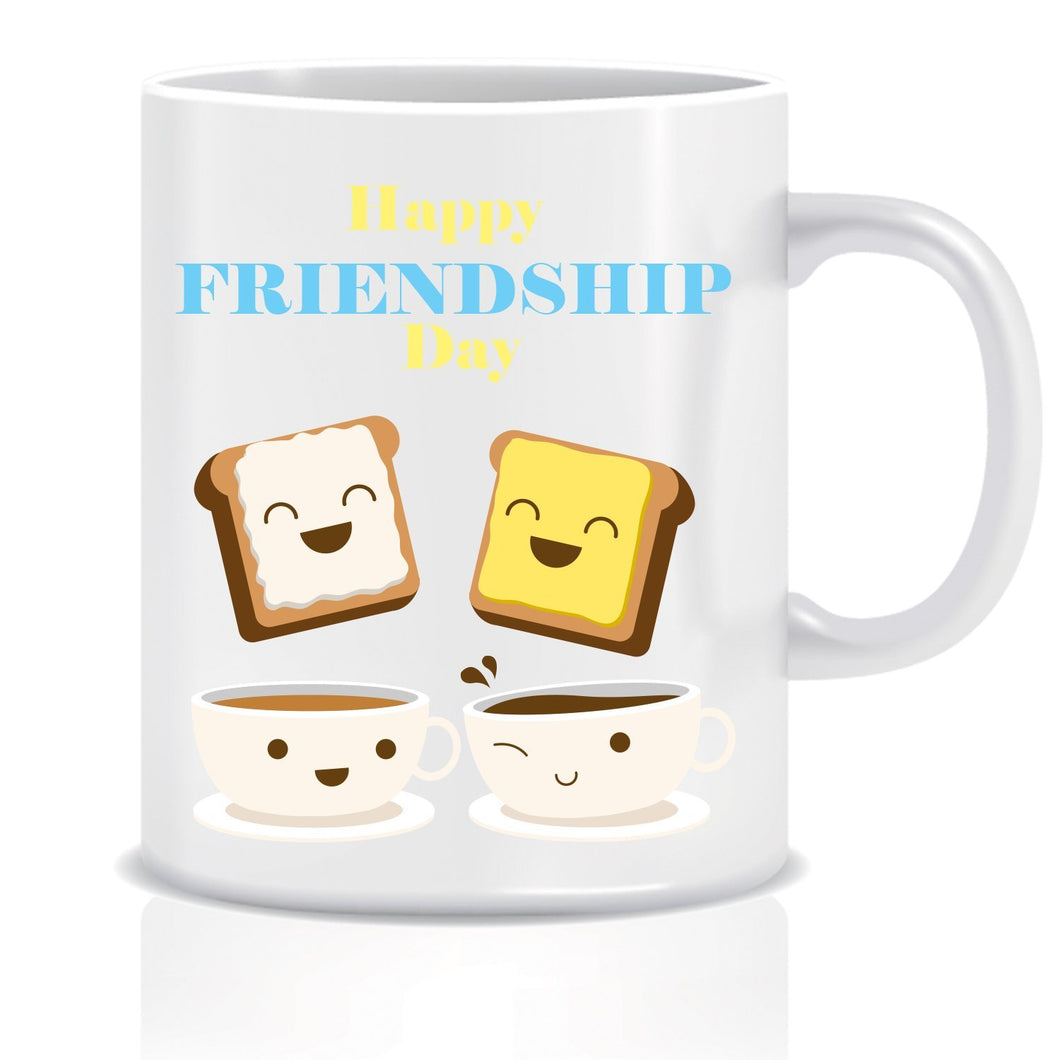 Friendship day Bread Butter Ceramic Coffee Mug ED028