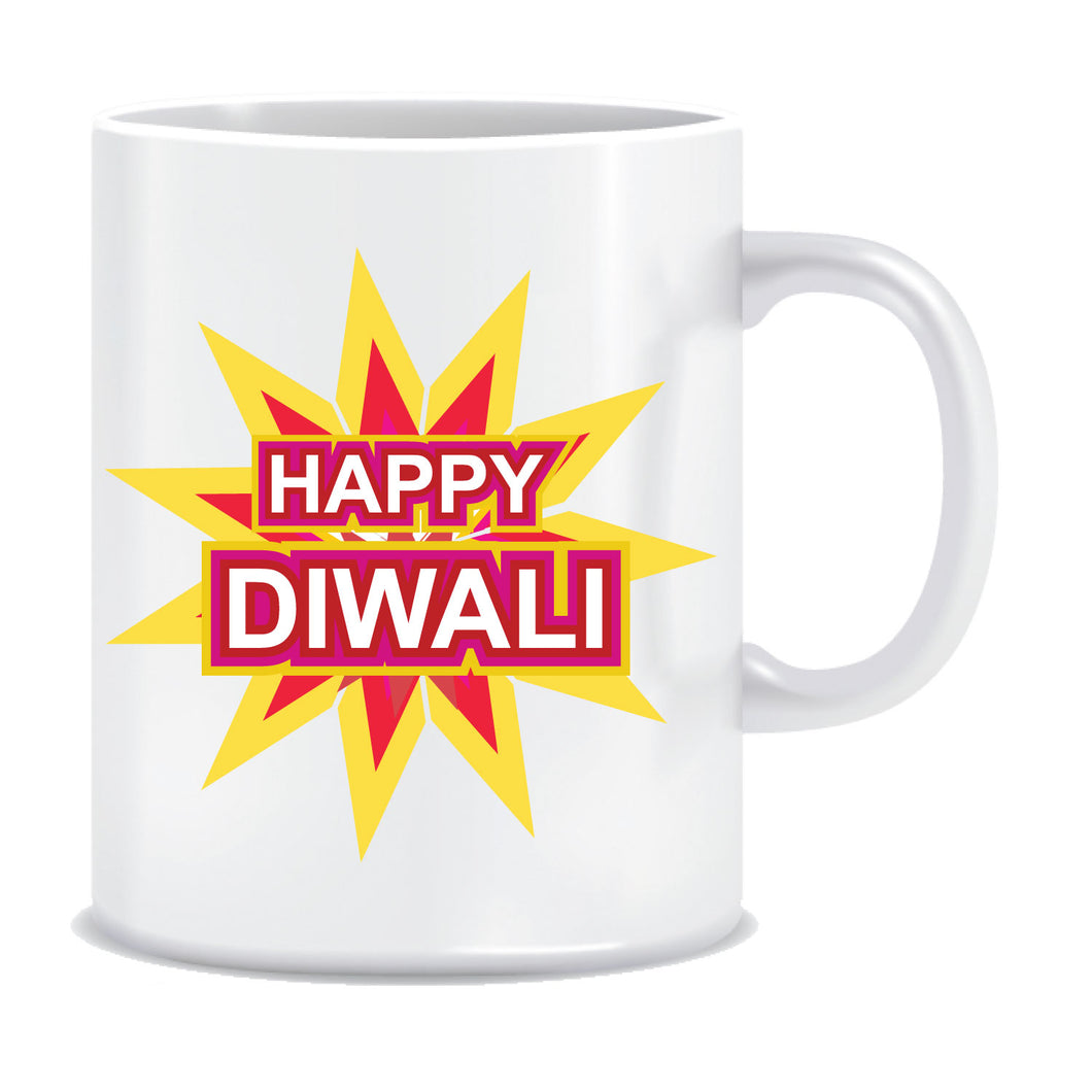 Diwali Greetings Printed Ceramic Coffee Mug ED116