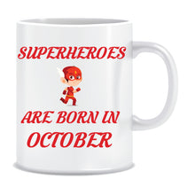 Superheroes are Born In October Coffee Mug
