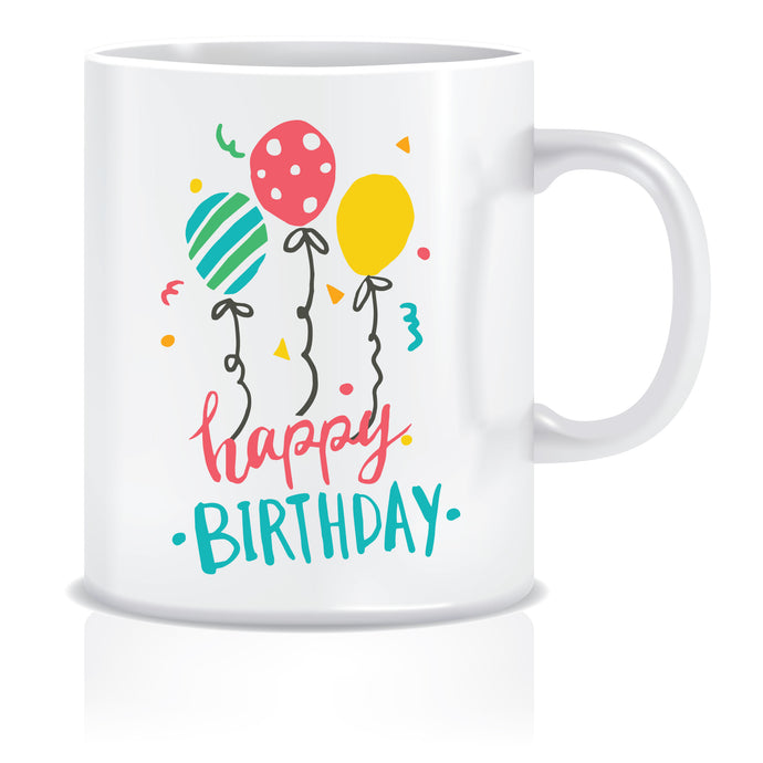 Happy Birthday Balloons Coffee Mug | ED640