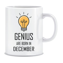 Genius are Born In December Coffee Mug