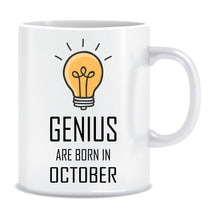 Genius are Born In October Coffee Mug