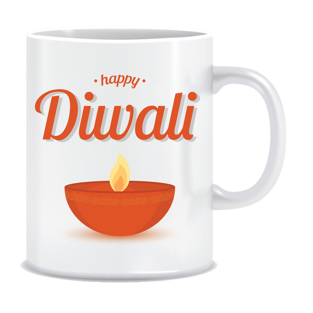 Diwali Greetings Happy Diwali Printed Ceramic Coffee Tea Mug ED114