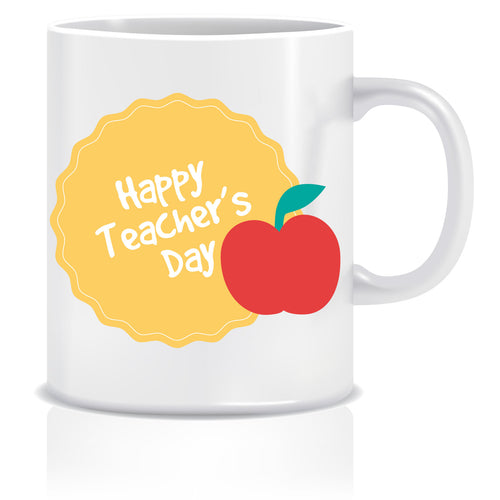 Happy Teacher's Day Printed Ceramic Coffee Mug ED082