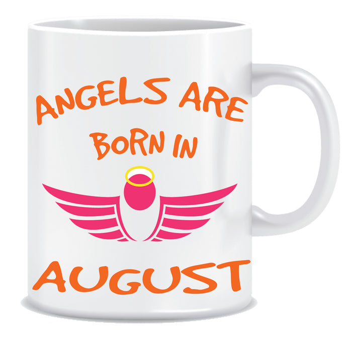 angels are born in august coffee mugs