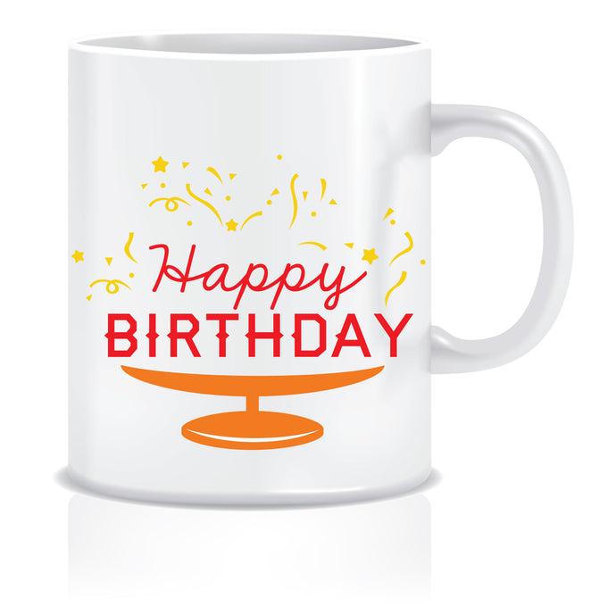 Happy Birthday Printed Coffee Mug  ED648