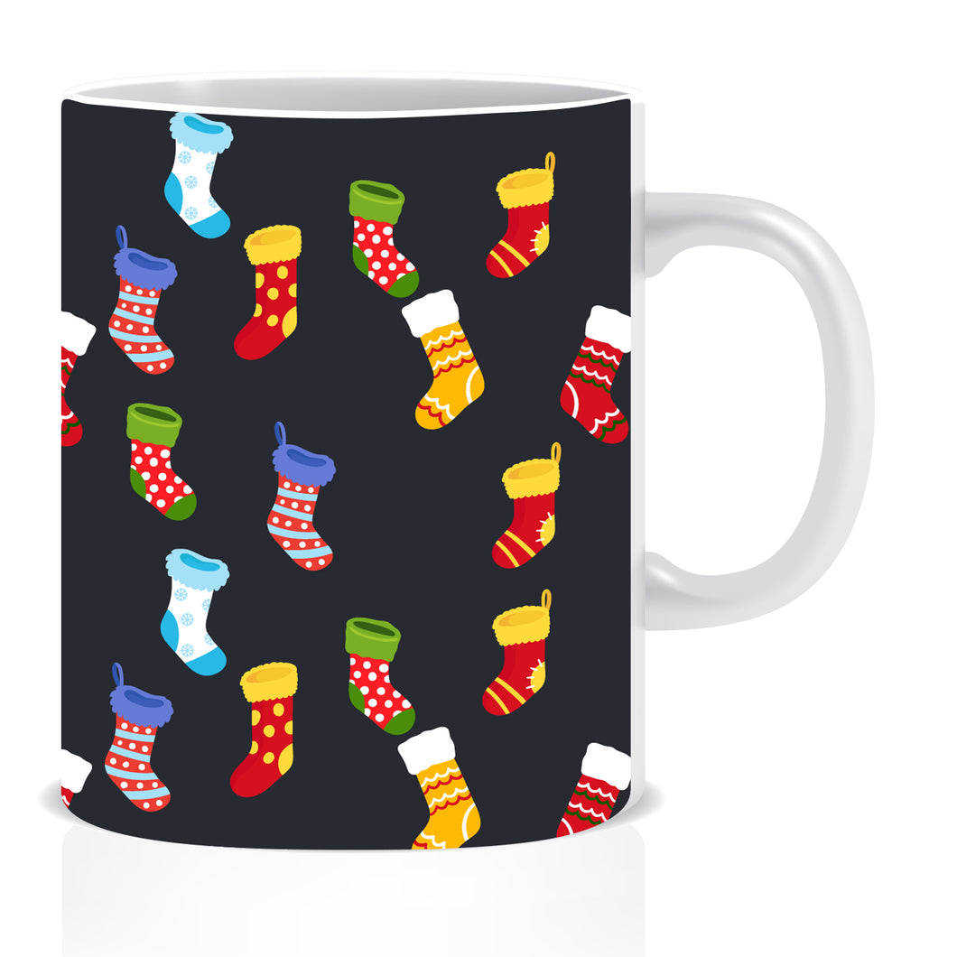 Christmas Socks Ceramic Coffee Mug -ED1392