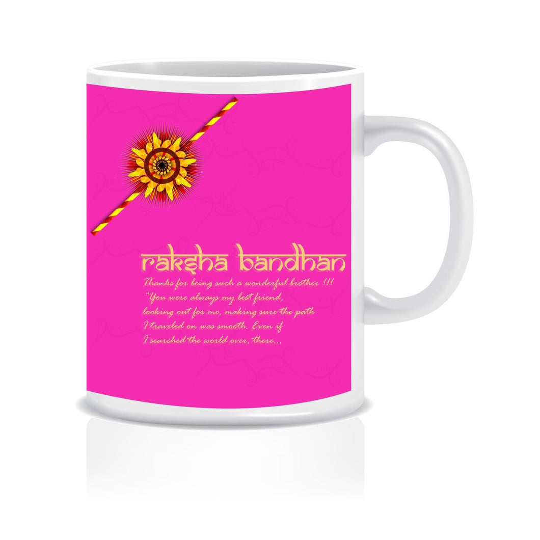Happy Raksha Bandhan Ceramic Coffee Mug ED016