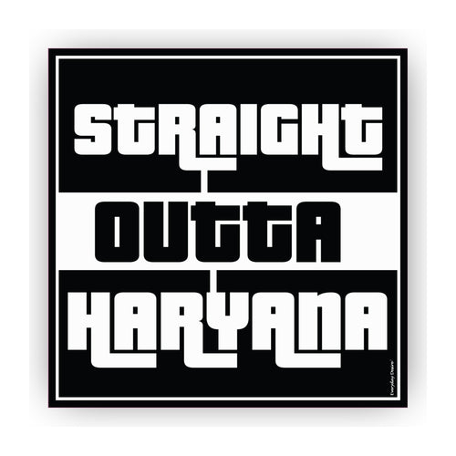 Flexible Fridge Magnet | Straight Outta Haryana - FM087