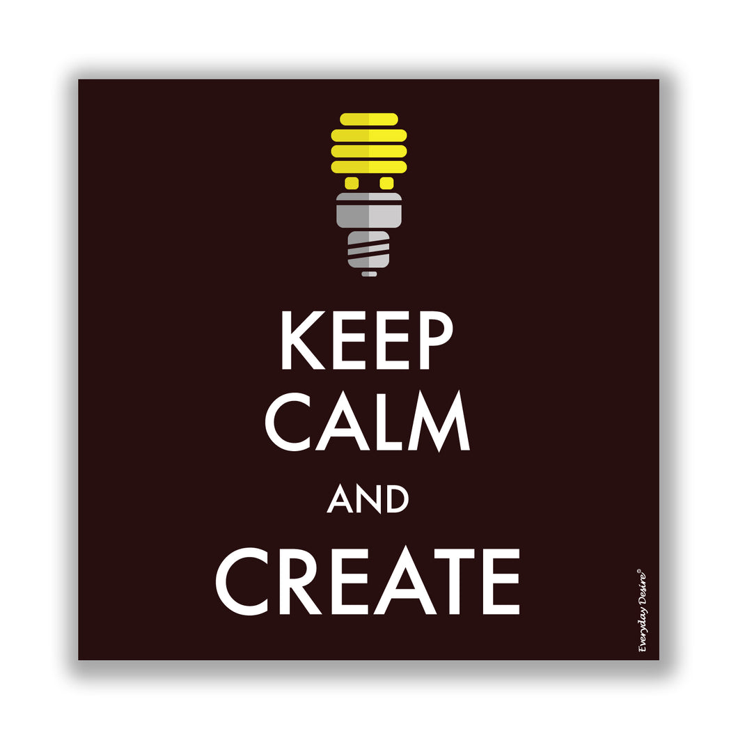 Flexible Fridge Magnet | Keep Calm and Create - FM043