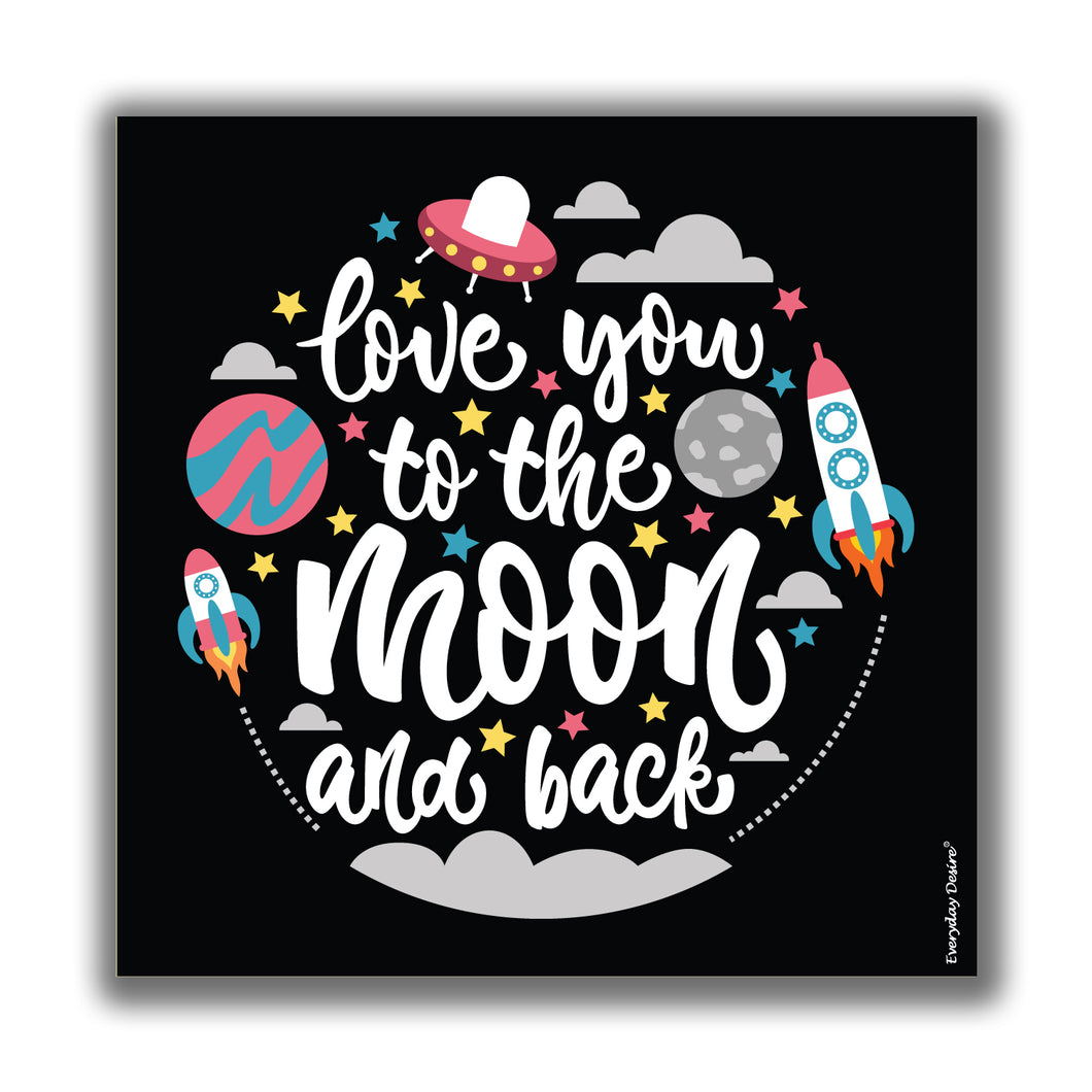 Love You to Moon and Back valentine anniversary birthday gifts