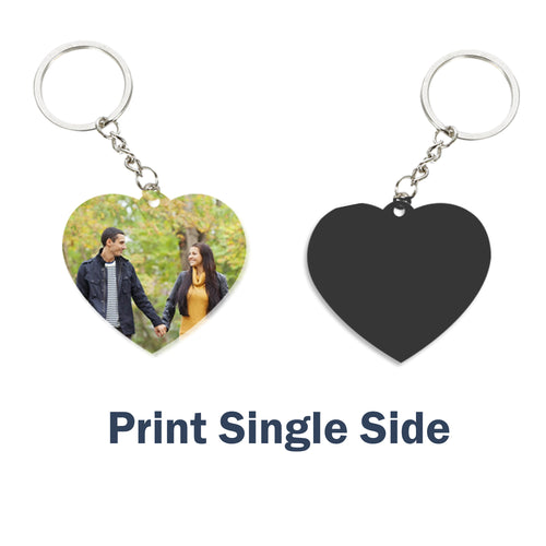 Customize  Key Chain Heart | Any Photo/Logo can be printed