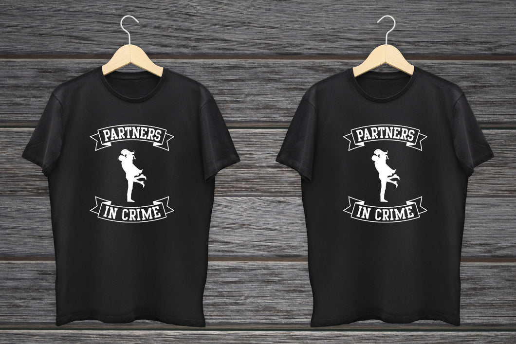partners in crime couple tshirts online