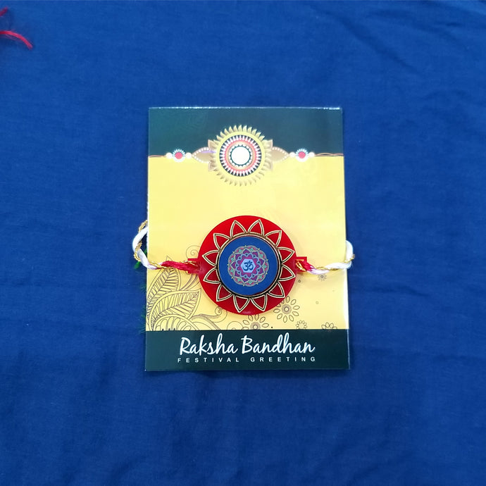 personalized om rakhi