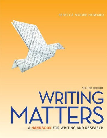 Writing Matters, Tabbed