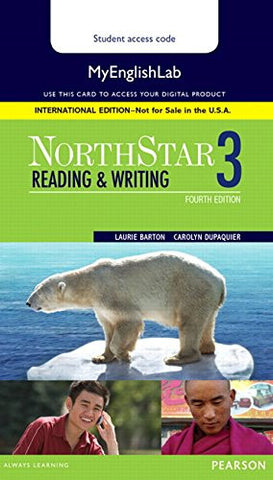 NorthStar Reading and Writing 3 MyEnglishLab, International Edition (4th Edition)-Only Access card