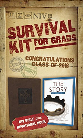 NIV, 2016 Survival Kit for Grads: NIV Bible plus Devotional Book, The Story Devotional