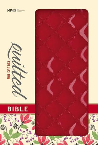 NIV, Quilted Collection Bible, Imitation Leather, Red, Red Letter Edition
