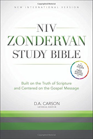 NIV, Zondervan Study Bible, Bonded Leather, Burgundy, Indexed: Built on the Truth of Scripture and Centered on the Gospel Message