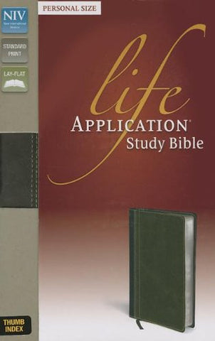 NIV, Life Application Study Bible, Personal Size, Imitation Leather, Brown/Green, Indexed