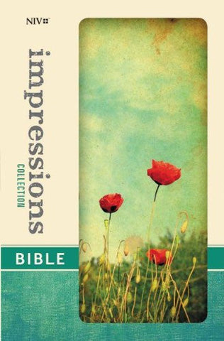 NIV, Impressions Collection Bible, Hardcover, Red/Green