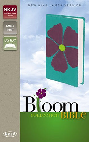 NKJV, Bloom Collection Bible, Compact, Imitation Leather, Purple, Lay Flat (The Bloom Collection)