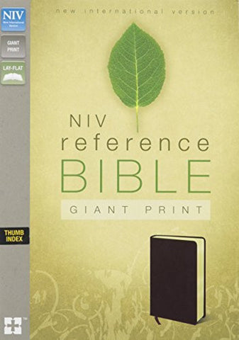 NIV, Reference Bible, Giant Print, Bonded Leather, Burgundy, Indexed