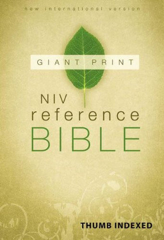 NIV, Reference Bible, Giant Print, Hardcover, Indexed