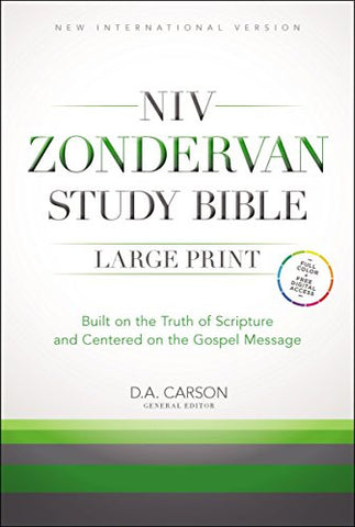 NIV, Zondervan Study Bible, Large Print, Hardcover: Built on the Truth of Scripture and Centered on the Gospel Message