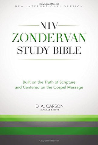 NIV, Zondervan Study Bible, Hardcover, Full Color, Free Digital: Built on the Truth of Scripture and Centered on the Gospel Message