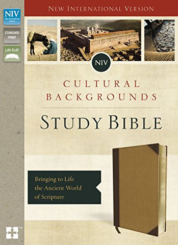 NIV, Cultural Backgrounds Study Bible, Imitation Leather, Tan, Indexed, Red Letter Edition: Bringing to Life the Ancient World of Scripture