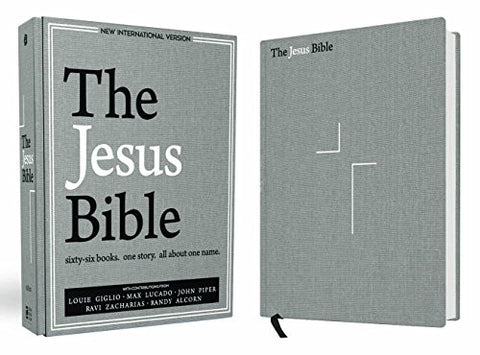 The Jesus Bible, NIV Edition, Hardcover, Gray Linen Cloth