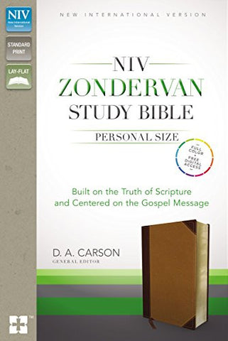 NIV Zondervan Study Bible, Personal Size, Imitation Leather, Brown/Tan, Indexed: Built on the Truth of Scripture and Centered on the Gospel Message