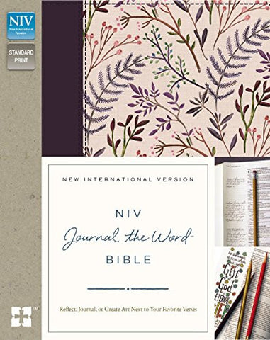 NIV, Journal the Word Bible, Hardcover, Pink Floral Cloth: Reflect, Journal, or Create Art Next to Your Favorite Verses